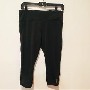 Reebok   Capri Workout Leggings with Mesh Detail